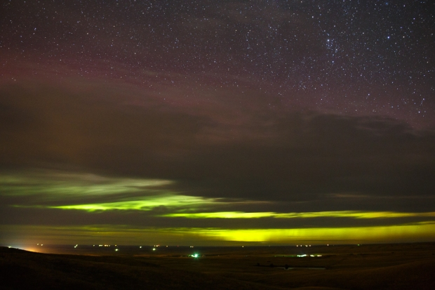 Aurora as seen from New Underwood, South Dakota